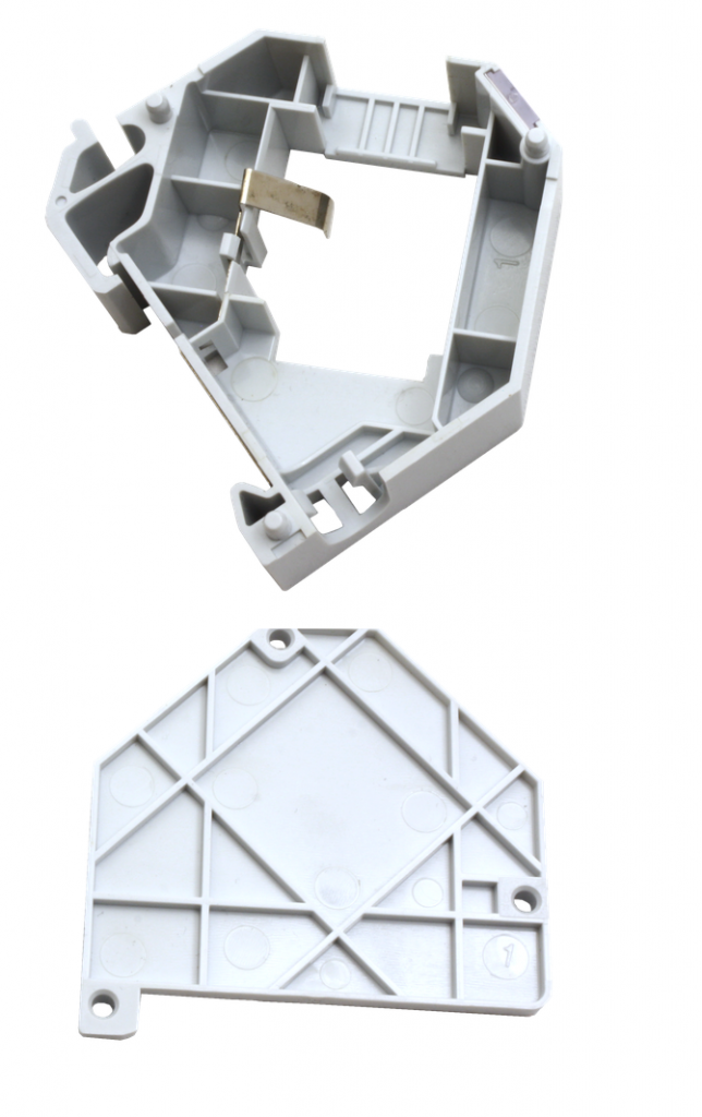 Din rail mount keystone outlet montuojama RJ45 rozete lizdui 4