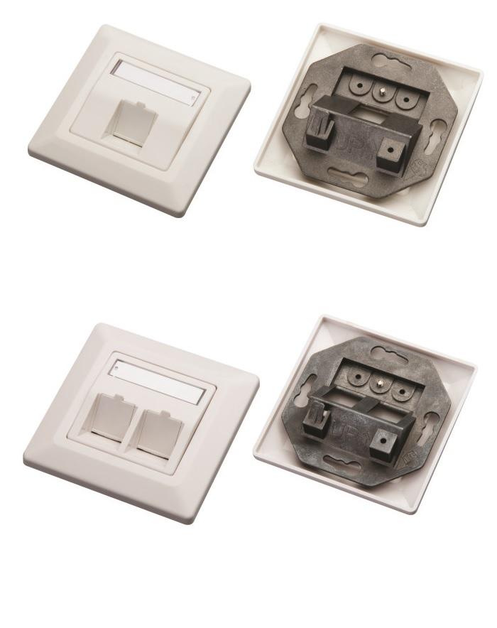 1xRJ45 2xRJ45 flush mount faceplates potinkines rozetes