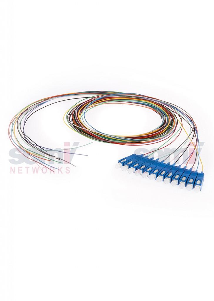 PTSC9A2TL SM pigtail SC 12 colours G657A, G652D 3