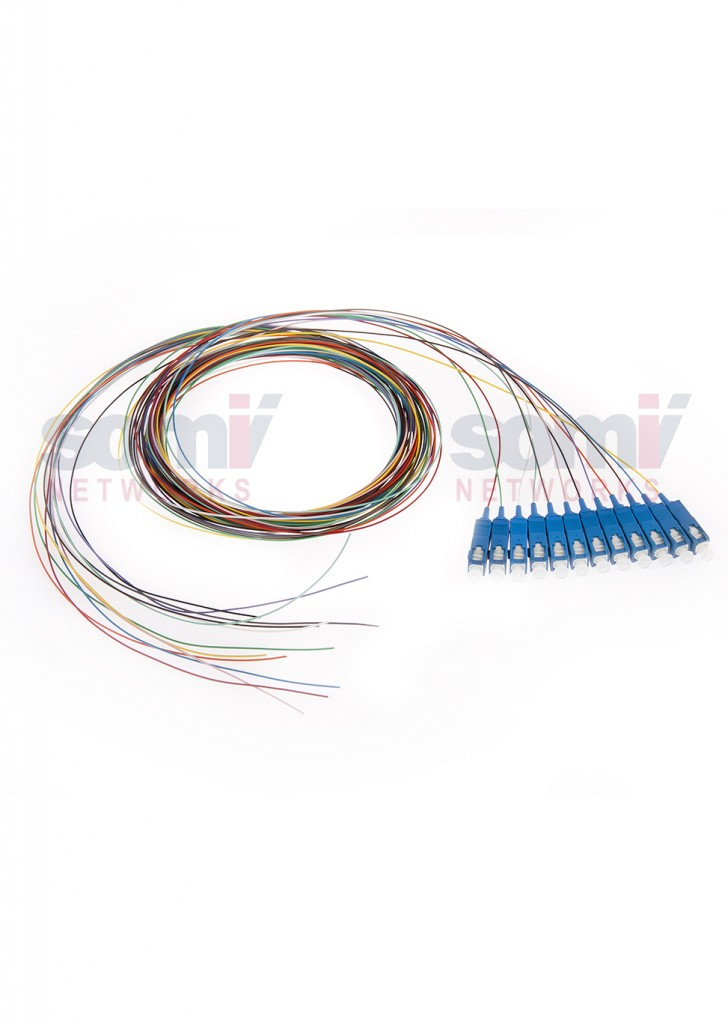 PTSC9A2TL SM pigtail SC 12 colours G657A, G652D