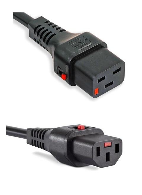IEC-LOCK C19, C13 cord