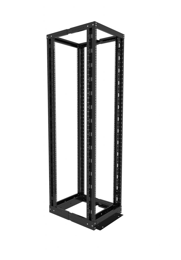 Open frame four post rack 18U, 22U, 27U, 32U, 37U, 42U, 45U, 47U
