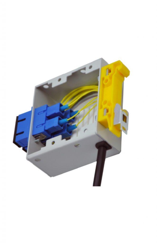 FTB-DIN-2DSC fiber box DIN sviesolaidine dezute 2