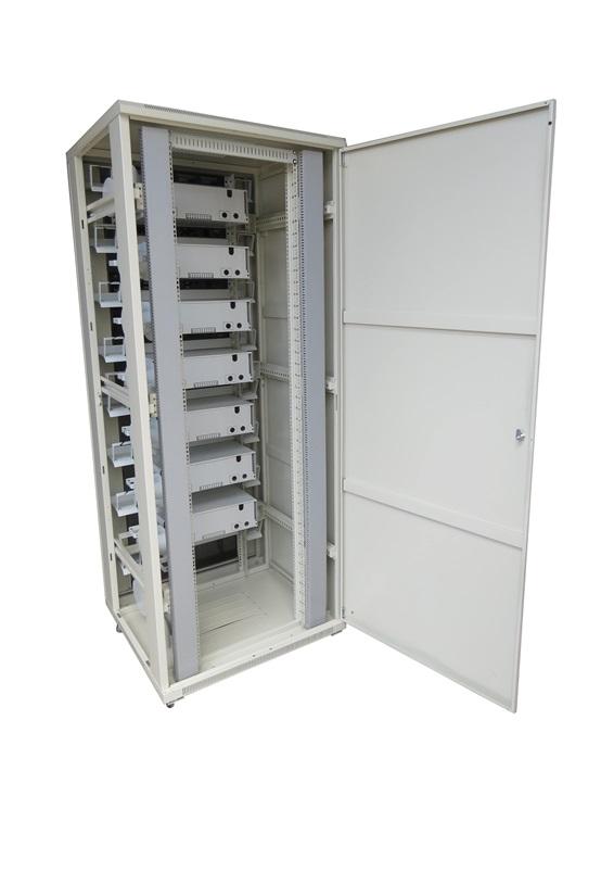 FTTH SRT paskirstymo / sujungimo spinta 42U 800×800, skirta sujungti 960 1152 skaidulų