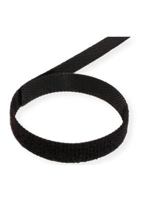 Velcro juosta tape 10mm 25m juoda black 2