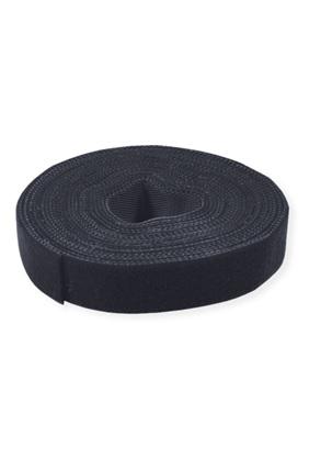 Velcro juosta tape 10mm 25m juoda black